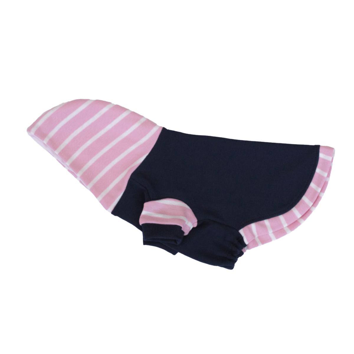 Baby Pink StBaby Pink Stripes Hoodie para perroripes Hoodie